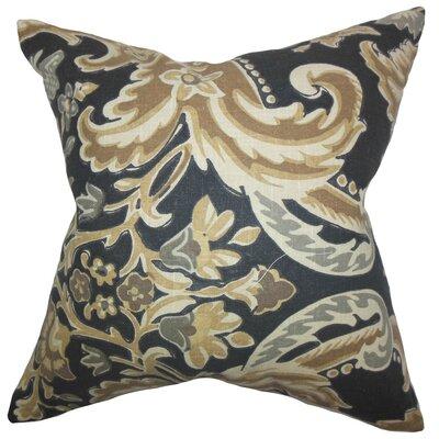 Kiriah Floral Linen Throw Pillow Cover Color: Mahogany