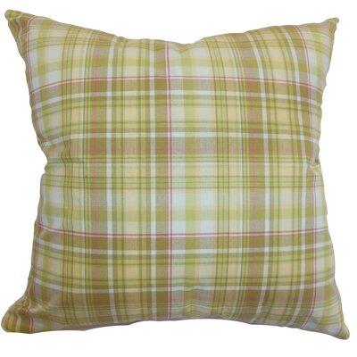 Banff Plaid Silk Throw Pillow Cover