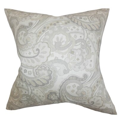 Iphigenia Floral Throw Pillow Cover Color: Gray