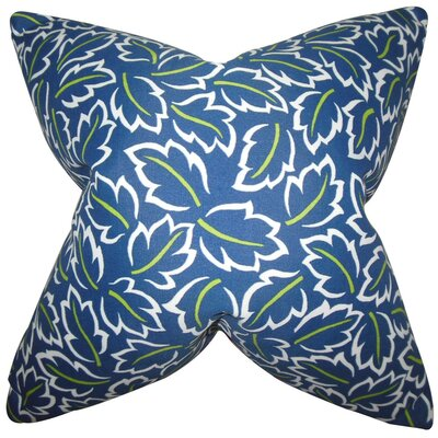 Kateri Foliage Throw Pillow Cover Color: Blue