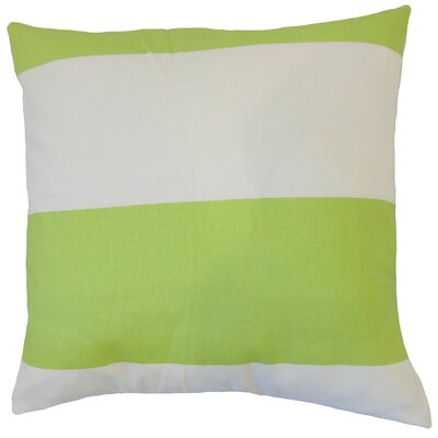 Yank Stripes Cotton Throw Pillow Size: 18 x 18