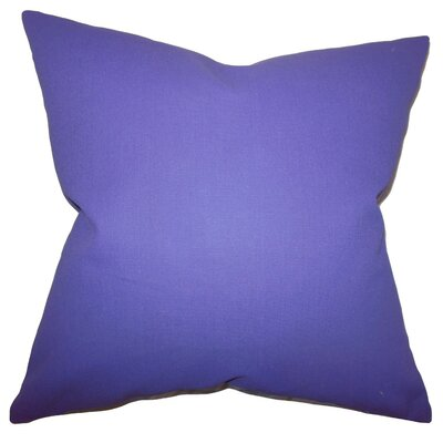 Kalindi Solid Throw Pillow Cover Color: Purple