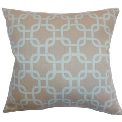 Qishn Geom Throw Pillow Cover Color: Powder Blue