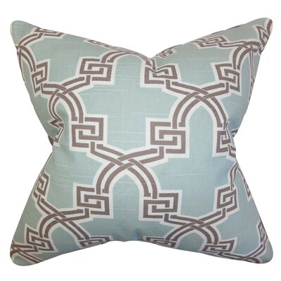 Letha Geometric Bedding Sham Size: King, Color: Blue