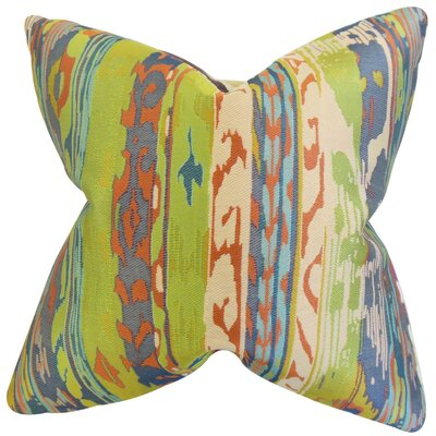 Ogun Ikat Throw Pillow Size: 18 x 18