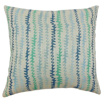 Malu Zigzag Throw Pillow Cover Color: Turquoise