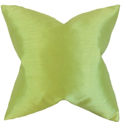 Burchard Solid Velvet Throw Pillow Cover Color: Apple Green