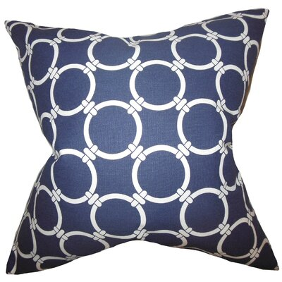 Betchet Geometric Bedding Sham Size: King, Color: Blue