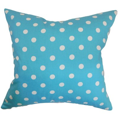 Nancy Polka Dots Throw Pillow Cover Color: Girly Blue Twill