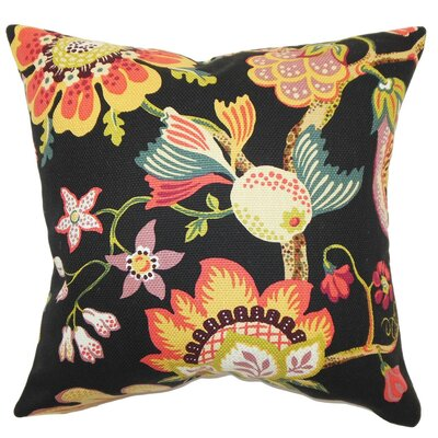 Calla Floral Cotton Throw Pillow Cover Size: 18 x 18