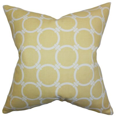 Betchet Geometric Cotton Throw Pillow Cover Color: Saffron Yellow