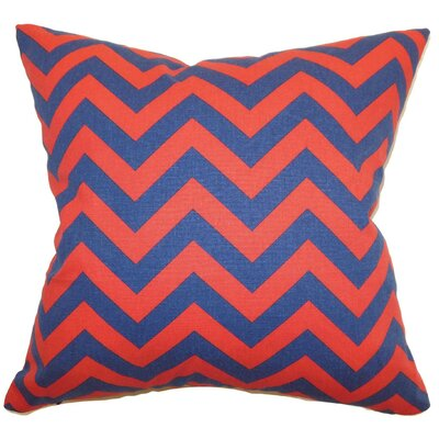 Burd Zigzag Throw Pillow Cover Color: Lipstick Blue