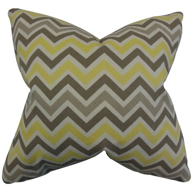 Howel Zigzag Cotton Throw Pillow Cover Color: Yellow
