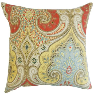 Chandley Damask Cotton Throw Pillow Cover Color: Festival