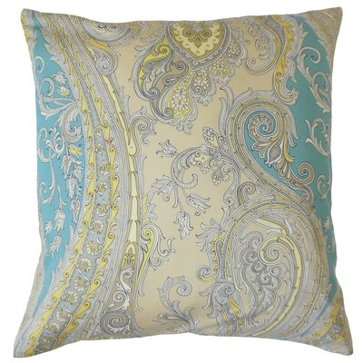 Efharis Paisley Cotton Throw Pillow Cover Color: Sunray