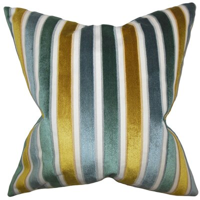 Alton Stripes Throw Pillow Color: Lagoon, Size: 22 x 22