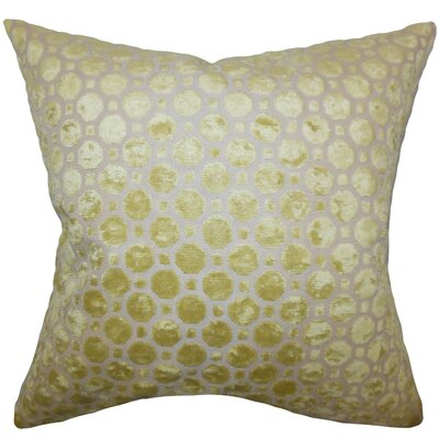 Maeve Geometric Bedding Sham Size: King, Color: Citrine