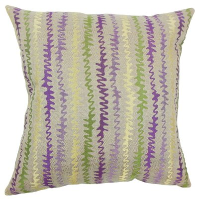 Malu Zigzag Throw Pillow Cover Color: Orchid