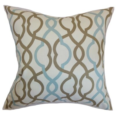 Adiyaman Moorish Geometric Cotton Throw Pillow Size: 22 x 22