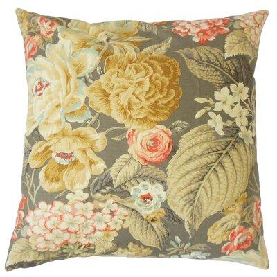 Fawzia Floral Cotton Throw Pillow Cover Size: 18 x 18