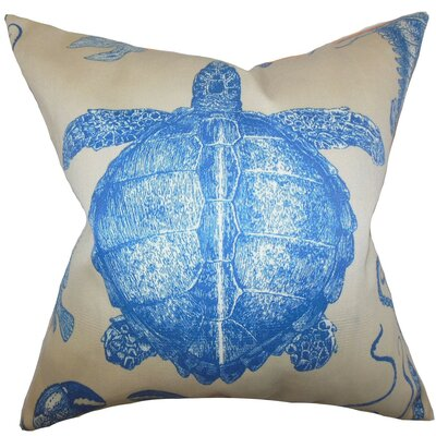Aeliena Coastal Throw Pillow Cover Size: 20 x 20, Color: Natural Blue