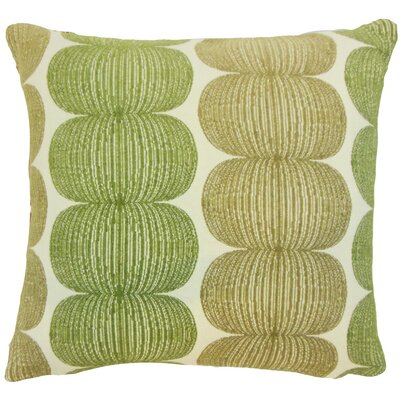 Sophronia Graphic Throw Pillow Cover Size: 18 x 18, Color: Kiwi