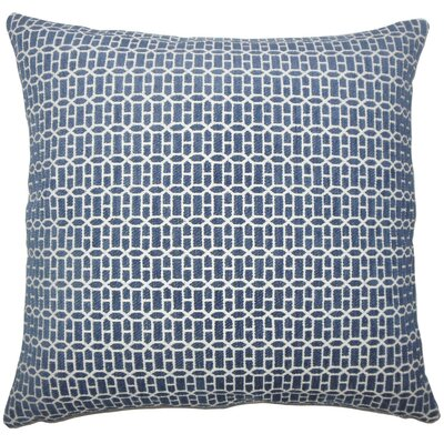 Yancy Geometric Throw Pillow Cover Color: Lapis