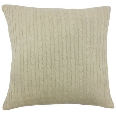Ochekka Knit Cotton Throw Pillow Cover Size: 20 x 20, Color: Natural