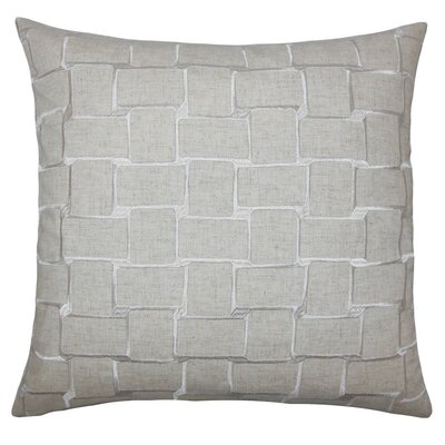 Haig Geometric Throw Pillow Cover Size: 18 x 18, Color: Natural