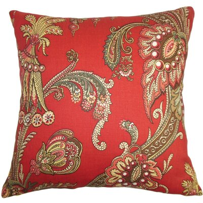 Leauna Floral Cotton Throw Pillow Cover Size: 20
