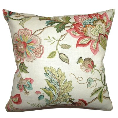 Adele Floral Throw Pillow Cover Size: 20 x 20