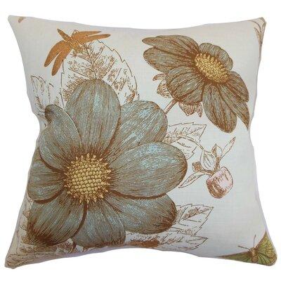 """Mareeba Floral Throw Pillow Cover Size: 18"""" x 18"""", Color: Aqua P18FLAT-D-20963-AQUA-C95L5"""