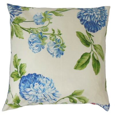 Zarina Floral Cotton Throw Pillow Cover Size: 18 x 18