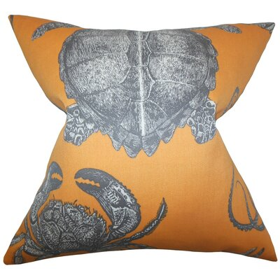 Aeliena Coastal Throw Pillow Cover Size: 20 x 20, Color: Papaya