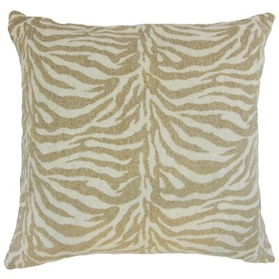 "Ksenia Animal Print Throw Pillow Cover Size: 20"" x 20"", Color: Brindle P20FLAT-BAR-M9235-BRINDLE-P84R16"