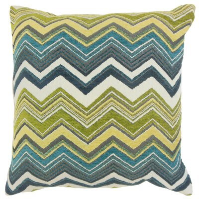 Hateya Zigzag Throw Pillow Cover Size: 18 x 18