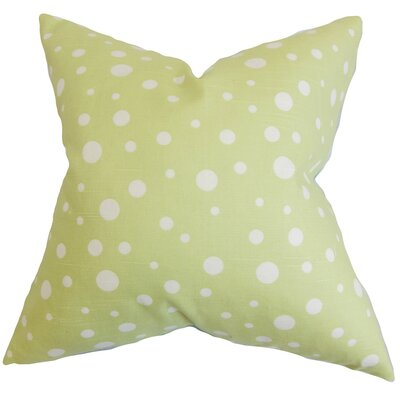 Bebe Polka Dots Cotton Throw Pillow Cover Size: 20 x 20, Color: Celery
