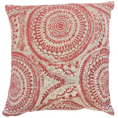 Chione Graphic Throw Pillow Cover Size: 18 x 18, Color: Cherry