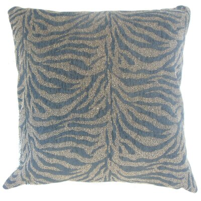 "Ksenia Animal Print Throw Pillow Cover Size: 18"" x 18"", Color: Brindle P18FLAT-BAR-M9235-BRINDLE-P84R16"