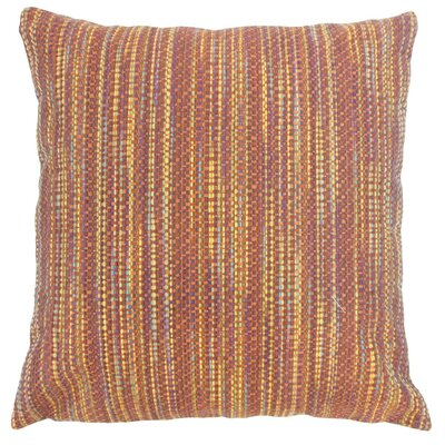 Raith Stripes Throw Pillow Cover Size: 18 x 18, Color: Fiesta
