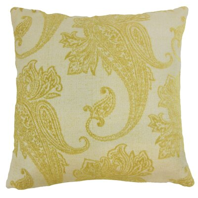 Galia Paisley Throw Pillow Cover Size: 18 x 18, Color: Lichen