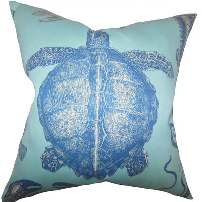 Aeliena Coastal Throw Pillow Cover Size: 18 x 18, Color: Sky Blue