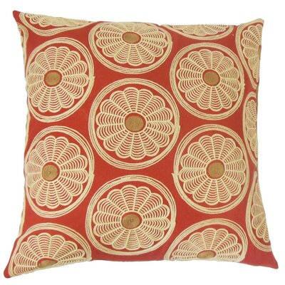 Bernique Floral Cotton Throw Pillow Size: 24 x 24