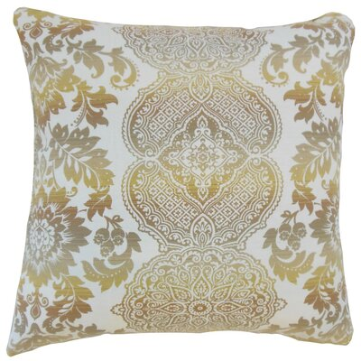 Orma Damask Throw Pillow Cover Size: 18 x 18, Color: Limestone