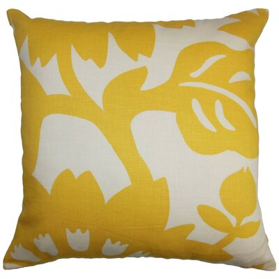 Pittman Floral Cotton Throw Pillow Cover Size: 18 x 18