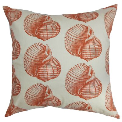 Bahari Aquatic Cotton Throw Pillow Cover Size: 18 x 18