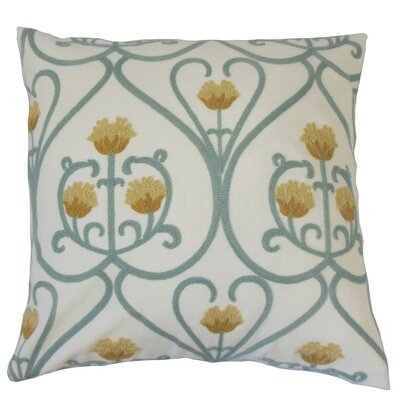 Drucilla Floral Cotton Throw Pillow Size: 22 x 22