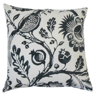 Indivar Floral Cotton Throw Pillow Size: 18 x 18