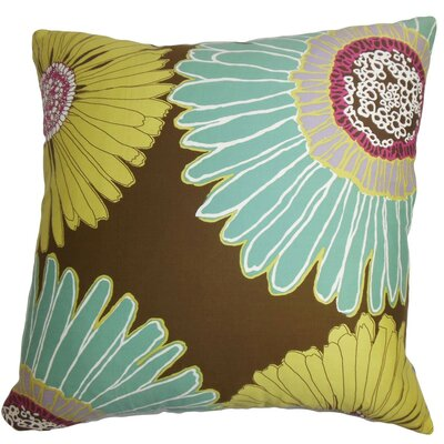 Indrina Floral Cotton Throw Pillow Cover Size: 18 x 18