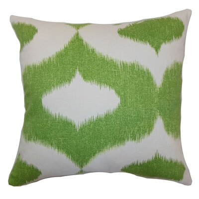 Leilani Ikat Cotton Throw Pillow Cover Size: 18 x 18, Color: Yellow